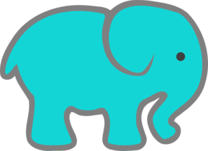 turquoise elephant clip art at clker com vector clip art online rh clker com elephant clipart images black and white elephant clipart free