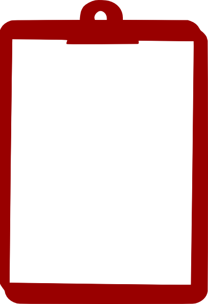 Red Clipboard Clip Art at Clker.com - vector clip art ...