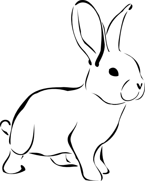 White rabbit clip art at vector clip art for Hase malen