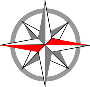 Red Grey Compass Pale Clip Art