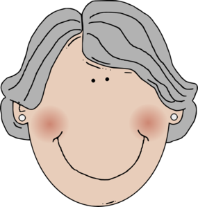 Gray Hair Woman Clip Art