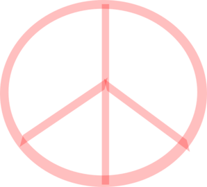 Red Peace Clip Art