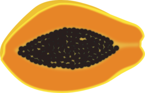 Papaya Halved View Clip Art