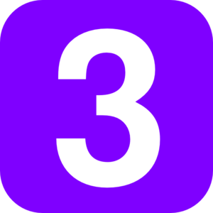 Blue Number One Clip Art