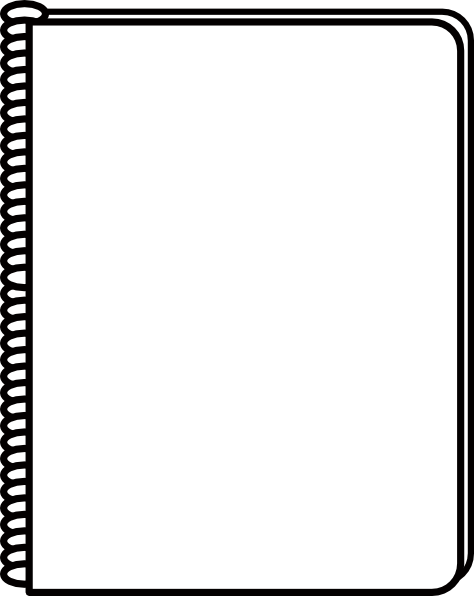 Notebook Clipart Black And White Images & Pictures - Becuo
