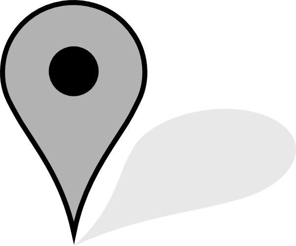 Free Google Maps Pointer Icon: Google Map Pointer Grey Clip Art At Clker.com