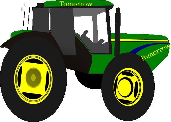 Green Tractor Clip Art : Green tractor tomorrow clip art at clker vector
