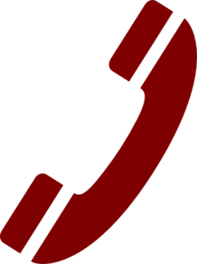 Telephone Handset Red Clip Art