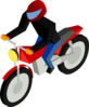Motorcycle Driver Clip Art
