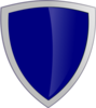 Dark Blue Security Shield Clip Art
