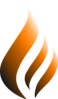Orange Logo Flame Clip Art
