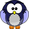 Blue Cartoon Owl Clip Art