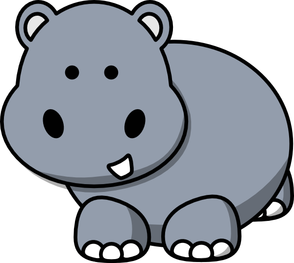 side hippo clip art at clker com vector clip art online royalty rh clker com hippo clip art black and white hippo clip art free