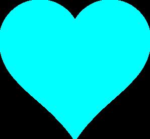 Aqua Heart Clip Art At Vector Clip Art Online
