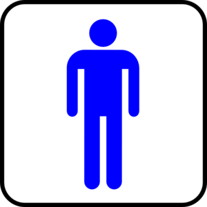 Man Blue With Boarder Clip Art