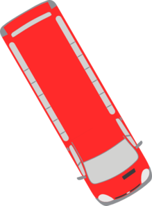 Red Bus - 300 Clip Art