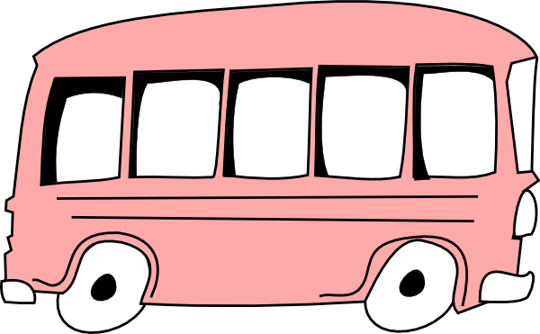 pink bus clip art at clker com vector clip art online royalty rh clker com