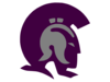 Trojans Purple Gray Cut Clip Art