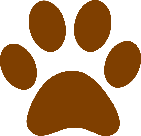 Paw print brown. Clip art at clker