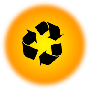 Orange Recycle Icon Clip Art