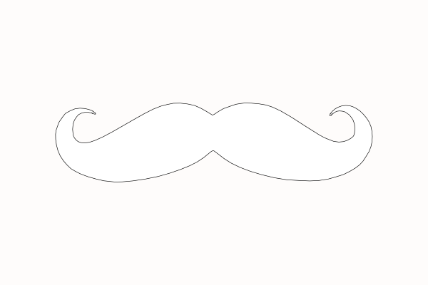 Mustache Outline clip artMustache Outline