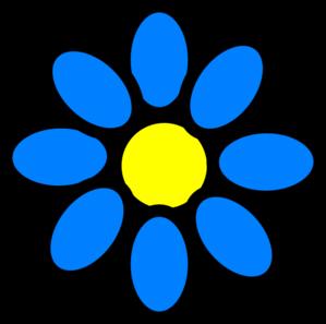 sky blue flower clip art at clker com vector clip art online rh clker com blue bell flower clip art blue flower clip art free