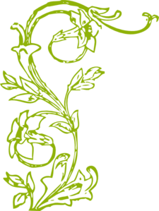Green Vine And Flowers Clip Art