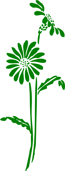 free green flower clipart - photo #28