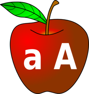 Apple With A A Clip Art