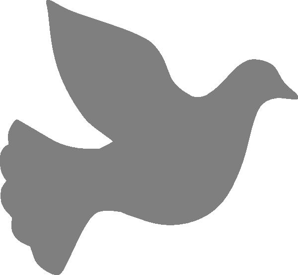 Grey Love Dove Clip Art at Clker.com - vector clip art online, royalty ...