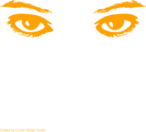 Orange Eyes Clip Art