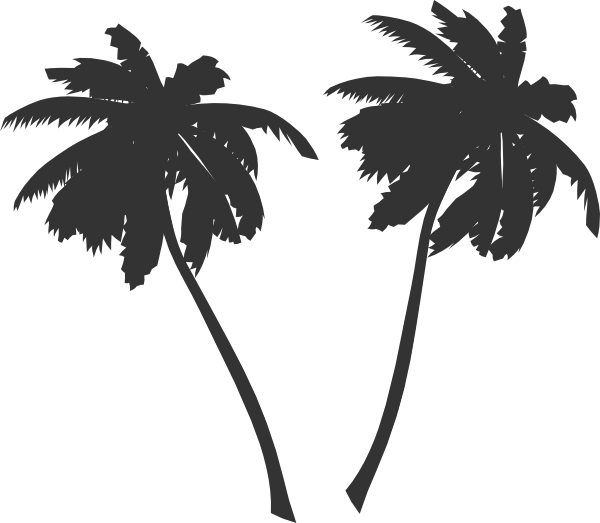 palm trees silhouette png - photo #34