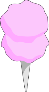 Pink Cotton Candy Clip Art