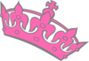 Pink Tilted Tiara Grey Outline Clip Art