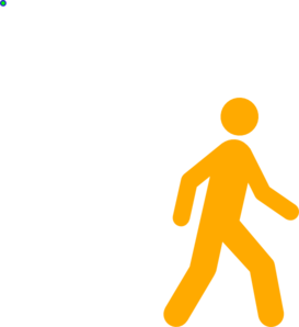 Yellow Walking Man Clip Art