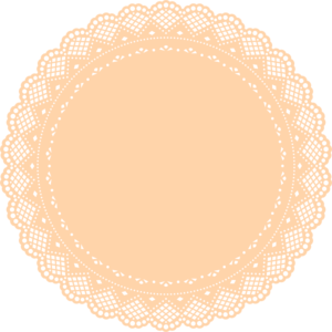 Orange Doily Clip Art