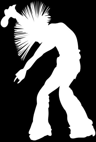 Rocker Silhouette Black Background Clip Art at Clker.com ...