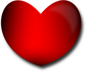 Shaded Red Heart Clip Art