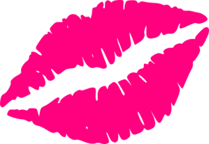 Pink Kiss Mark Clip Art