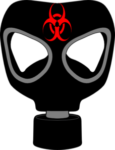 Bio Hazard Gas Mask Clip Art
