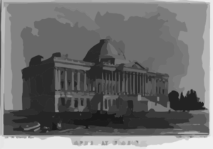 Capitol At Washington Clip Art