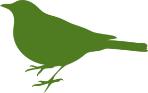 Green Bird Profile Clip Art
