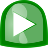 Green Play Button Clip Art