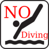 No Diving Clip Art
