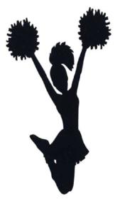 cheerleader clip art at clker com vector clip art online royalty rh clker com Pom Pom Clip Art Pom Pom Clip Art