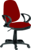 Red Desk Chair Clip Art