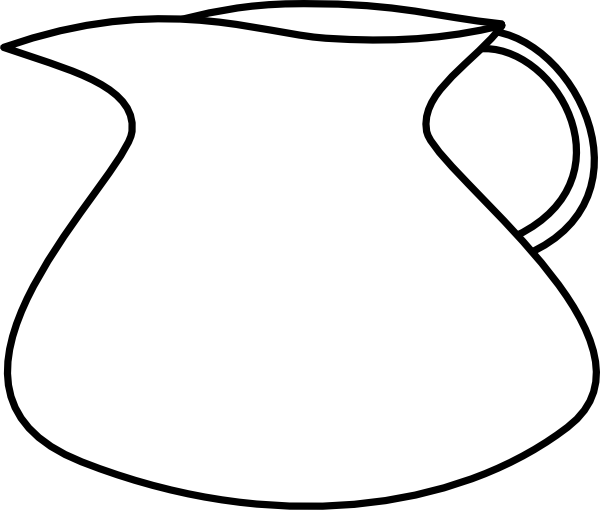 Line Drawing Jug : Blank water pitcher clip art at clker vector