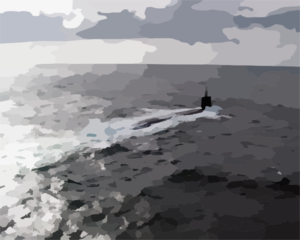 The Nuclear Powered Attack Submarine Uss Seawolf (ssn 21) Participates In Nato Exercise Odin-one. Clip Art