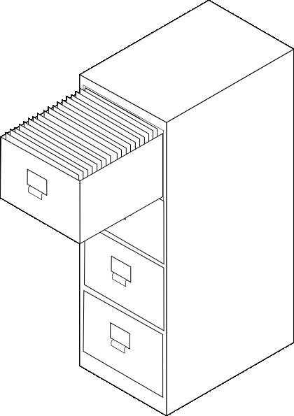 Filing Cabinet White Clip Art at Clker.com - vector clip art ...
