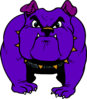 Purple Bulldog Clip Art